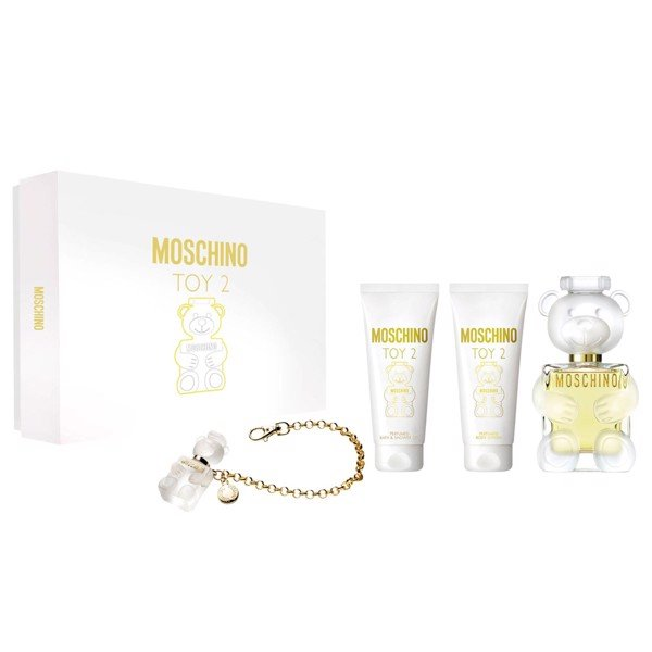 Gift Set Moschino Toy 2 4pcs (100ml & Body Lotion 100ml & Shower Gel 100ml & Móc khoá hình gấu )