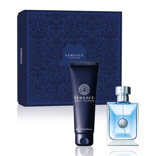 Gift Set Versace Pour Homme 2pcs  EDT 100ml + Hair&BS 150ml