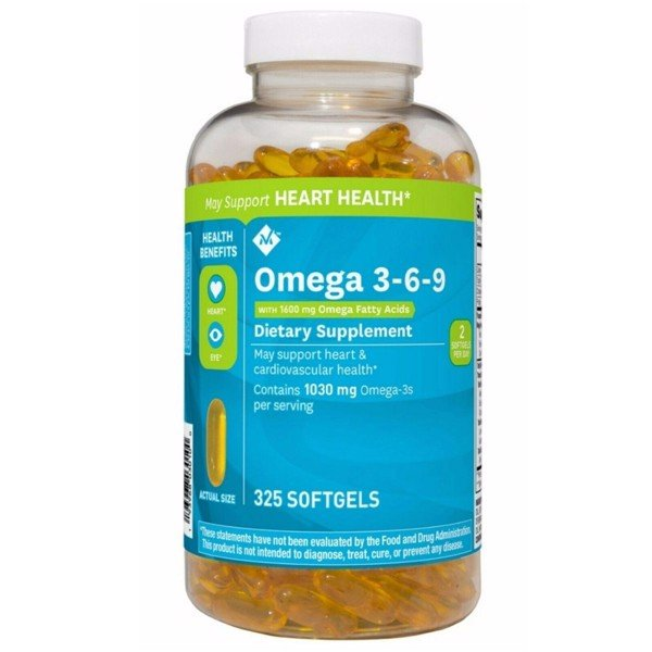 Member's Mark Supports Heart Health Omega 3, 6, 9 Dietary Supplement