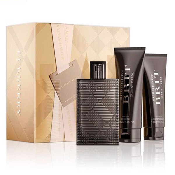 Gift Set Burrbery Brit Rhythm For Him 3pcs EDT 90ml + SG 100ml + AS100ml