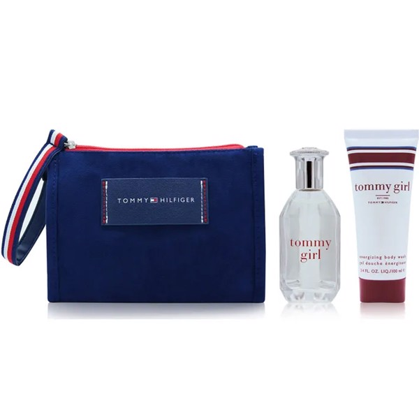 Gift Set Tommy Hilfiger Tommy Girl 3pcs ( EDT 50ml & Sữa tắm 100ml & Travel Bag )