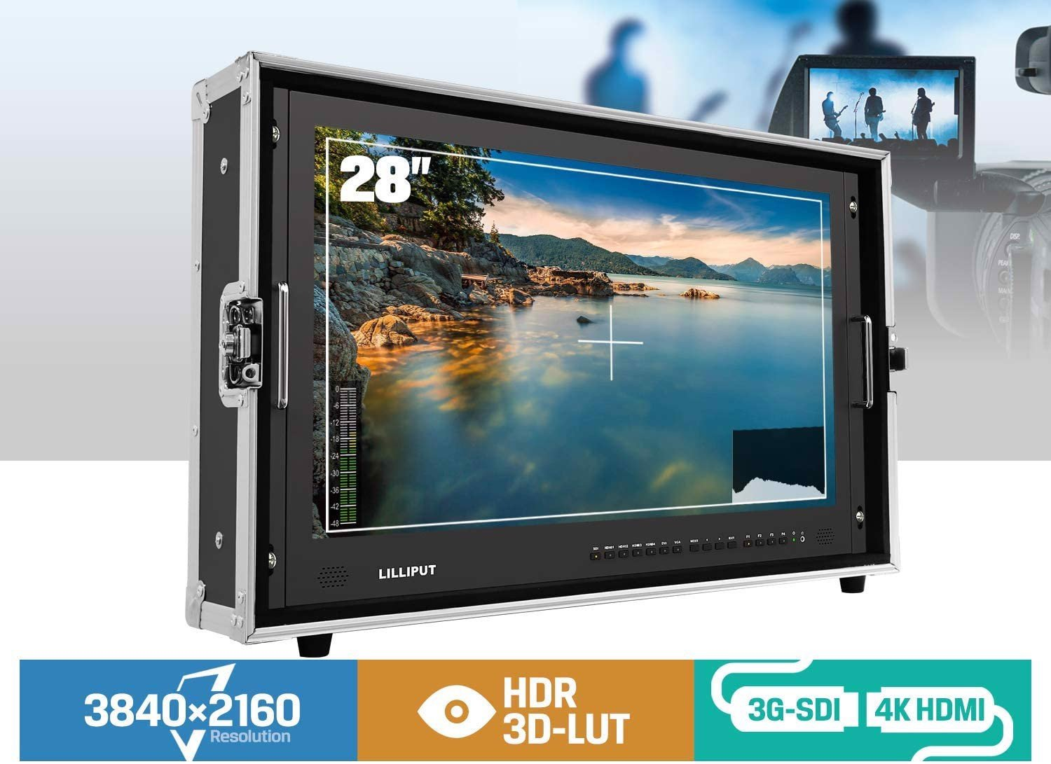 Màn Hình Lilliput BM280 4KS – 28″ 4K monitor with 3D LUTS and HDR