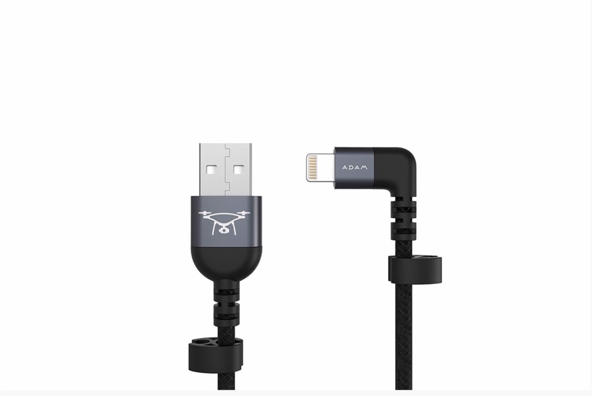 ADAM Elements RC Cable (Gray, Lightning to USB)