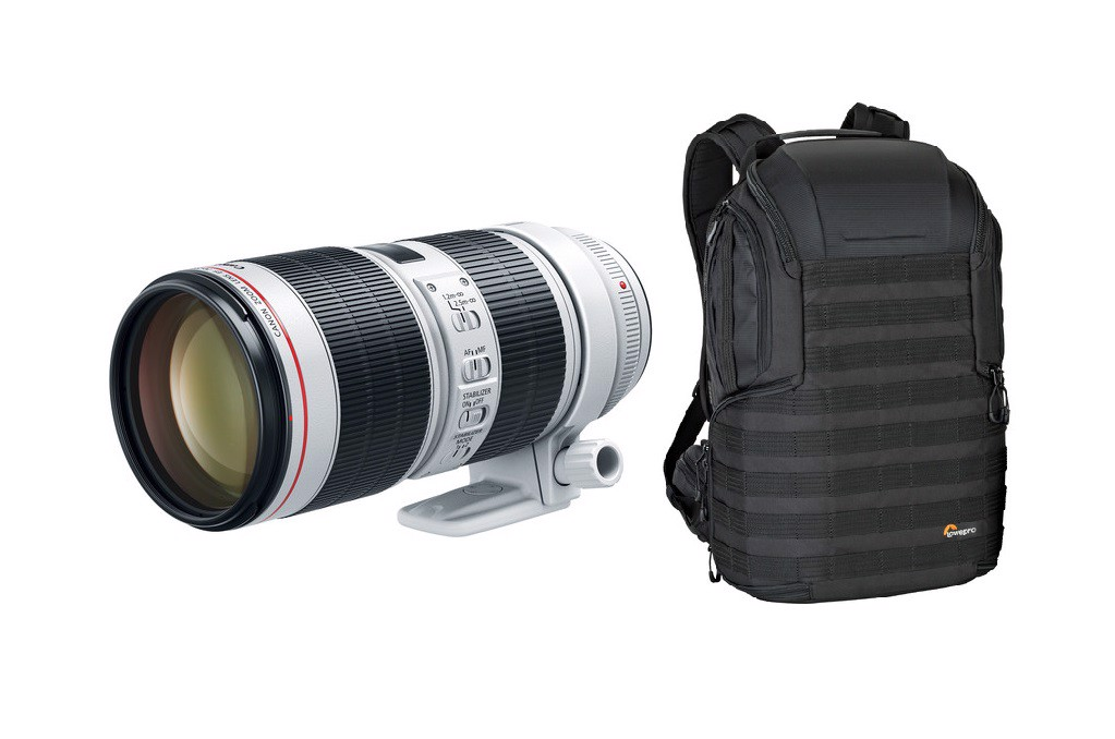 Canon EF 70-200mm f2.8L IS II USM ( LBM ) + Lowepro Protactic 450AW II