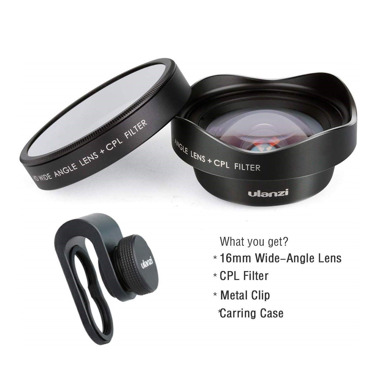 Ulanzi 16mm Wide Angle Phone Camera Lens w CPL Filter