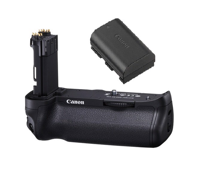 Combo Canon Battery Grip BG E20 + Pin E6 zin