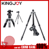 Kingjoy A Series Tripod with T21 Low Profile Ball Head, Compact, Gray