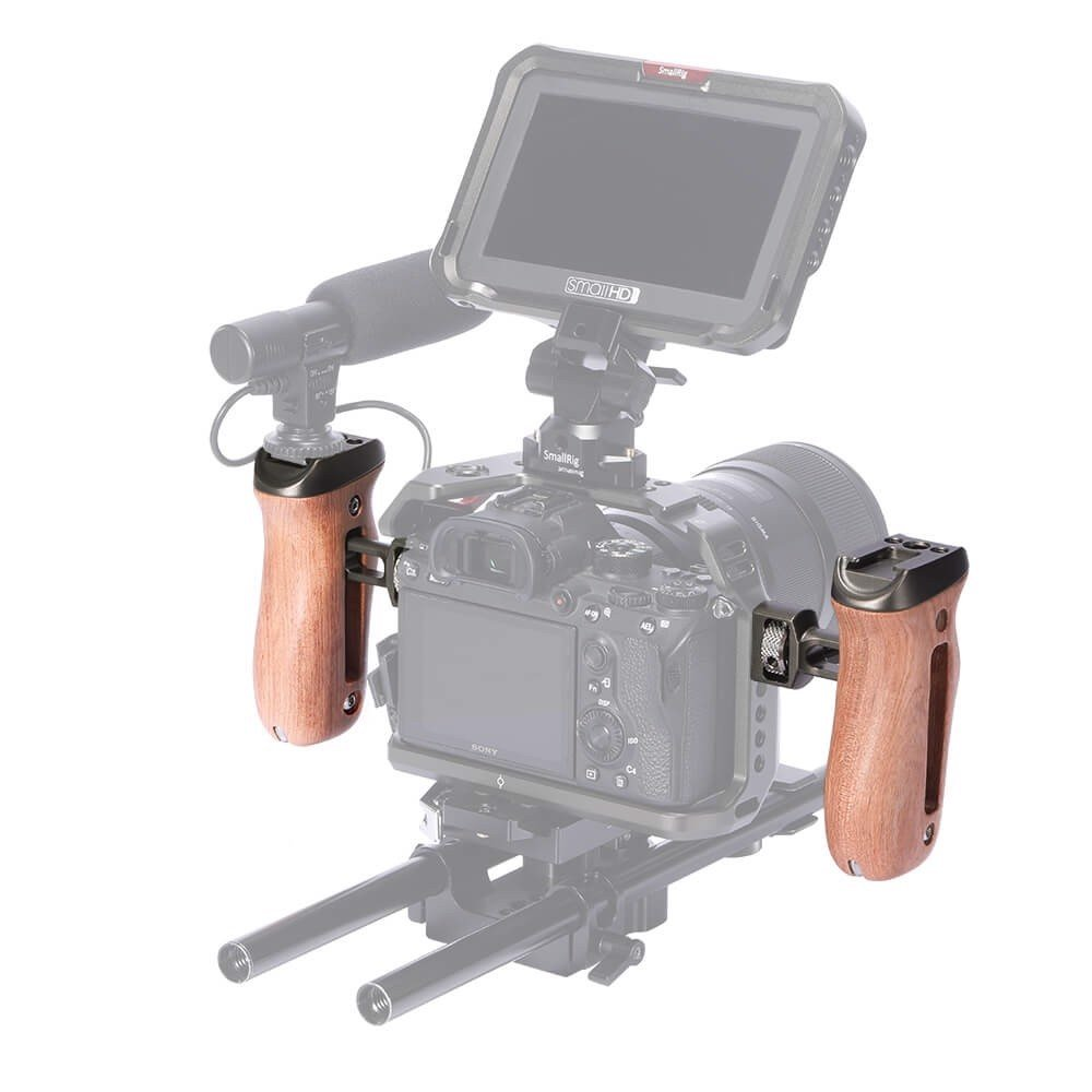 SmallRig Wood Side Handle with ARRI-Style Mount HSS2642 (NRUJ2)