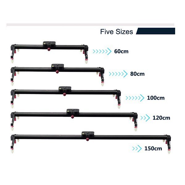Thanh ray trượt Dolly 150 / 120 / 100 / 80 / 60cm Slider Rail for Camera and Video