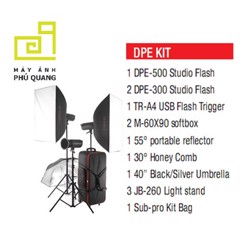 Bộ kit đèn flash studio Jinbei DPE