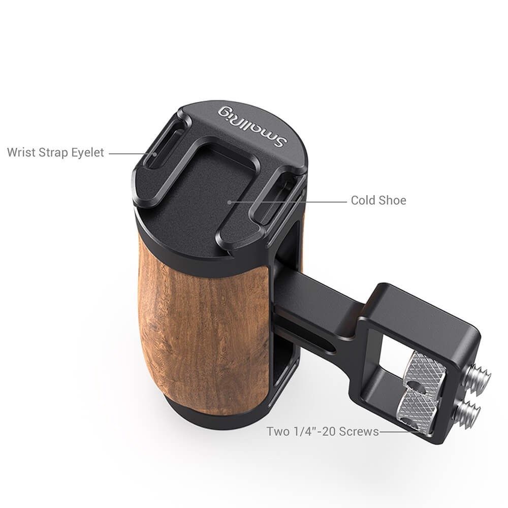 "SmallRig Wooden Mini Side Handle (1/4""-20 Screws) (NRUJ4)"