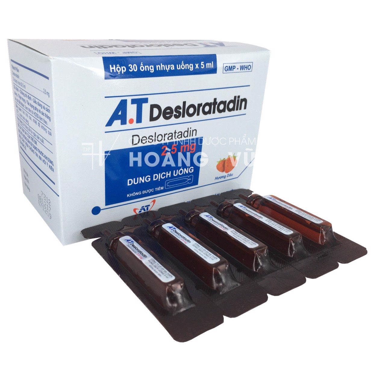 A.T DESLORATADIN 5ML - ỐNG (T/84H/30 ống)