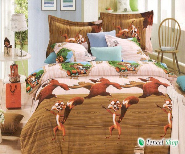 Bộ cotton cao cấp trẻ em Madagascar giường đơn TNM 06