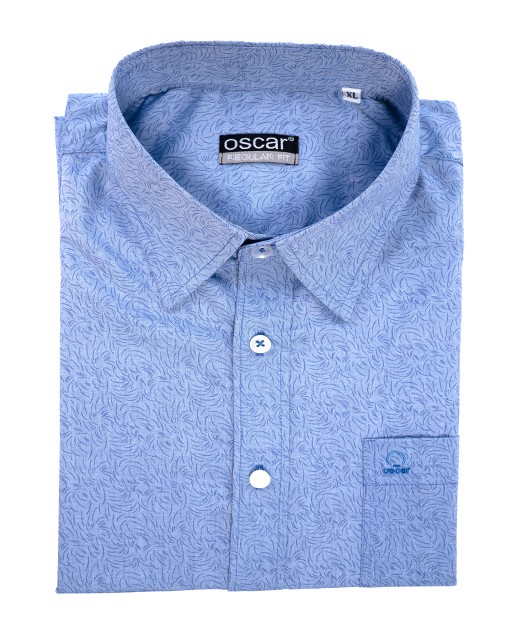 SHORT SLEEVES SHIRT - OCMSKSDBLU 028
