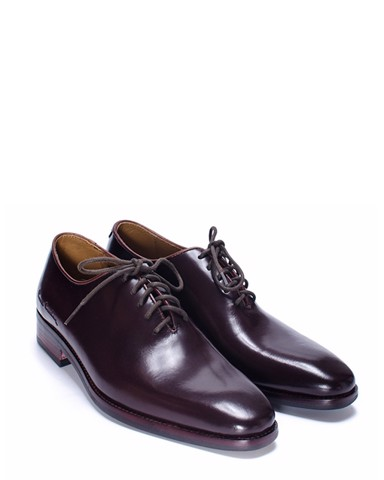 BROWN WHOLECUT LEATHER SHOES - PCMFWLB052