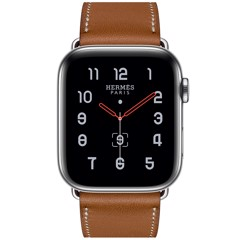 Apple watch SR5 44mm Hermes thép bạc có E-Sim