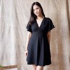 Đầm Cổ Tim Tay Loe - V Neck Bell Sleeves Dress