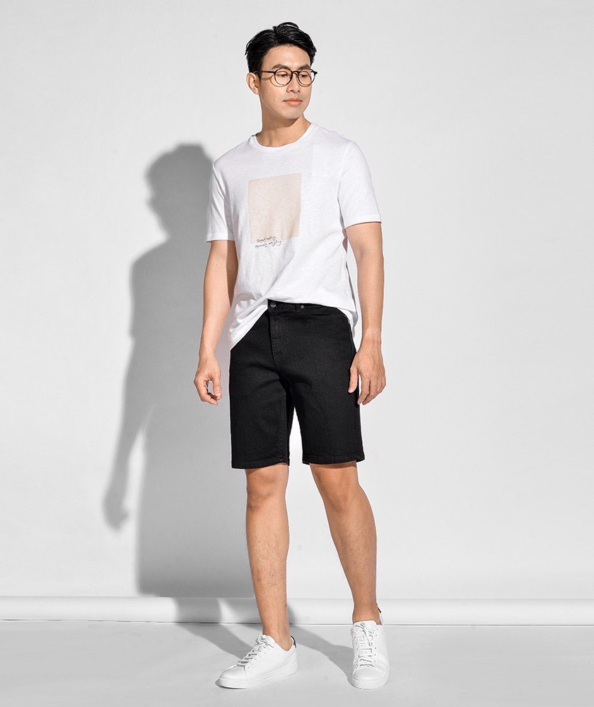 Quần Short Jean Nam Form Straight 10S20DPS002