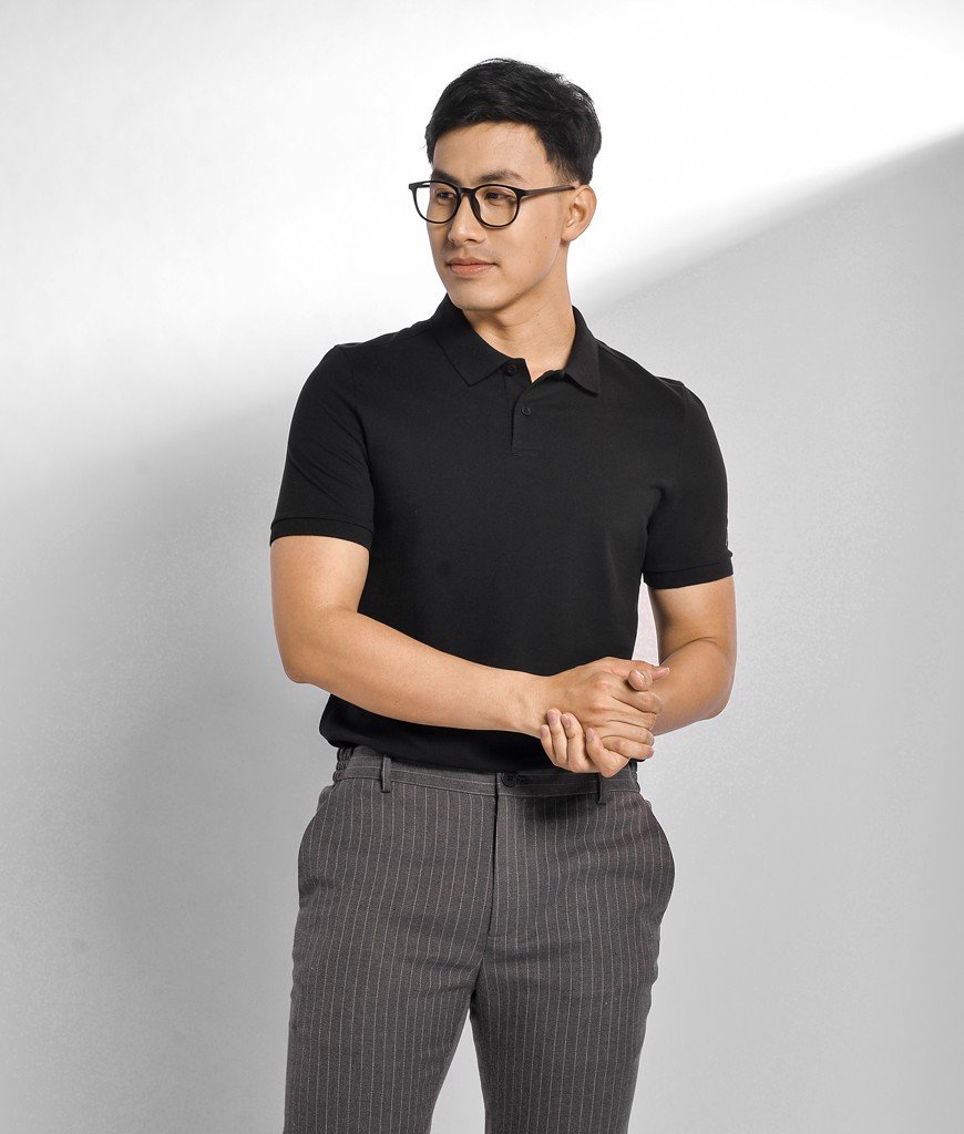 Áo polo cotton form slim - 10F20POL002