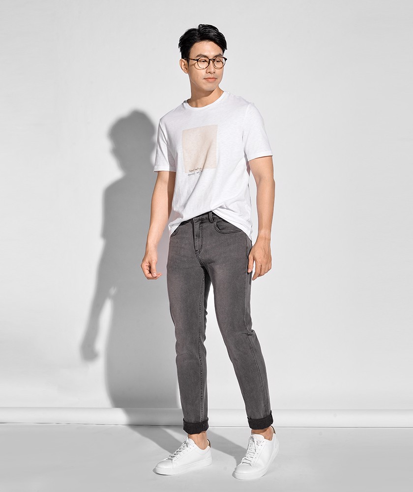 Quần Jean Nam Form Slim Fit 10S20DPA057