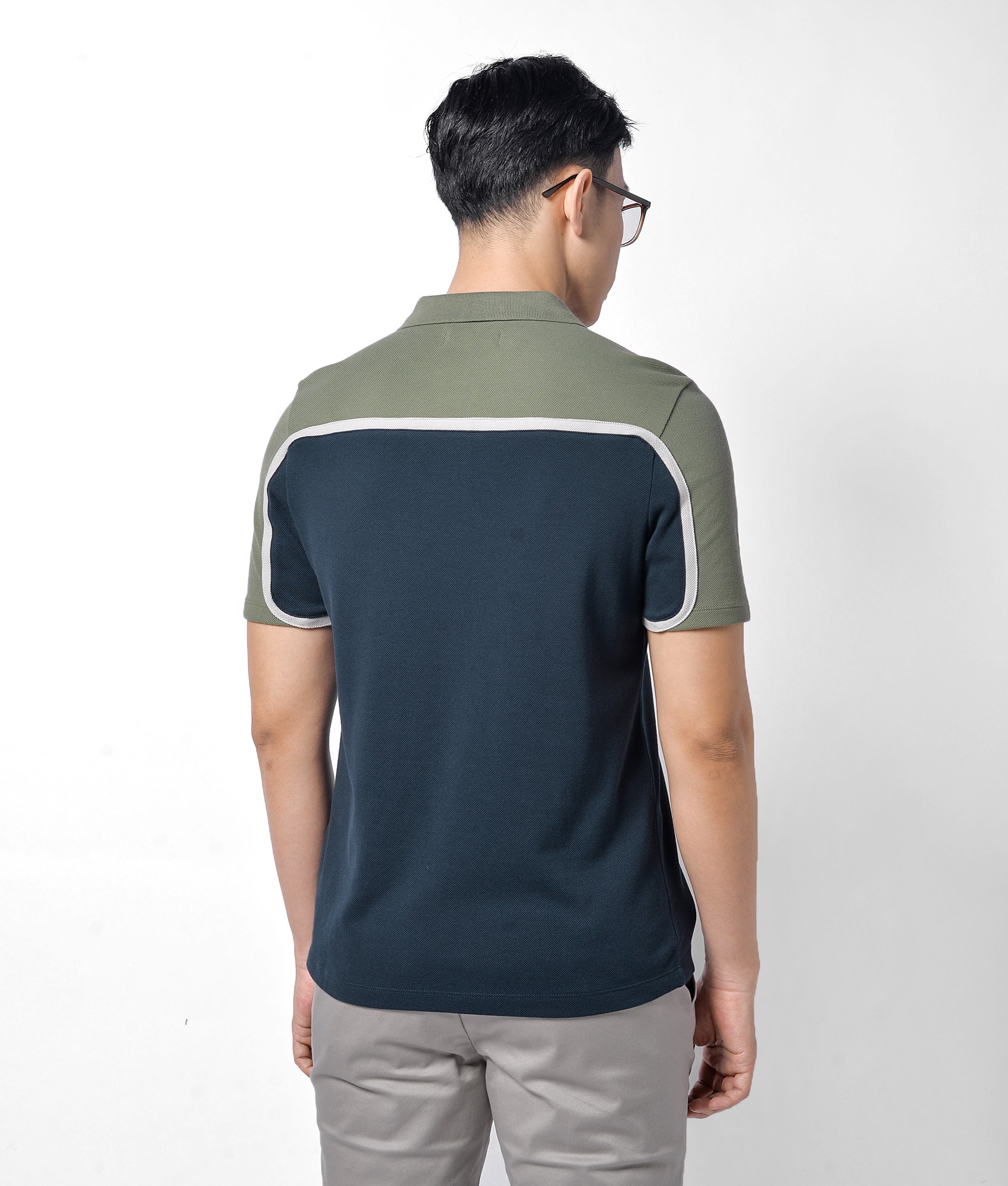 Áo polo contrast sleeves form fitted - 10F20POL009