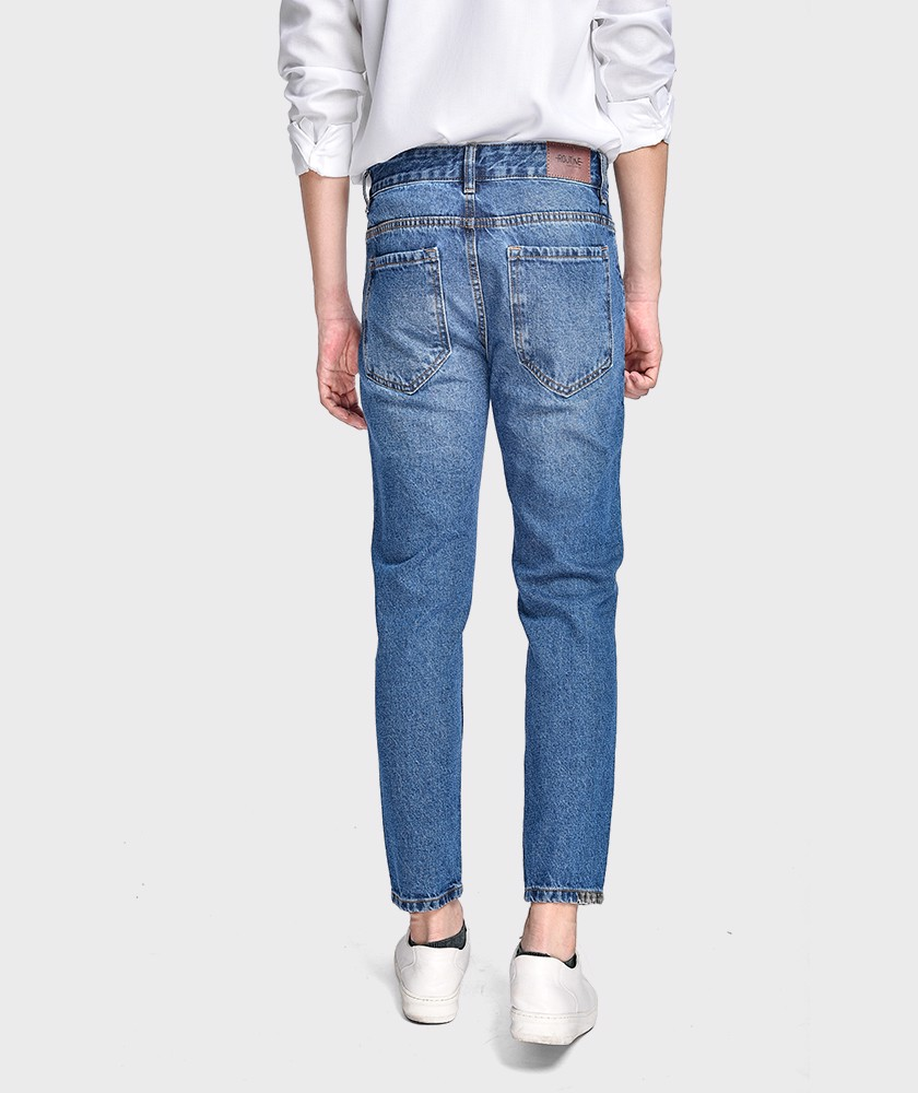 Quần Jean Nam Form Slim Cropped - QJ215001