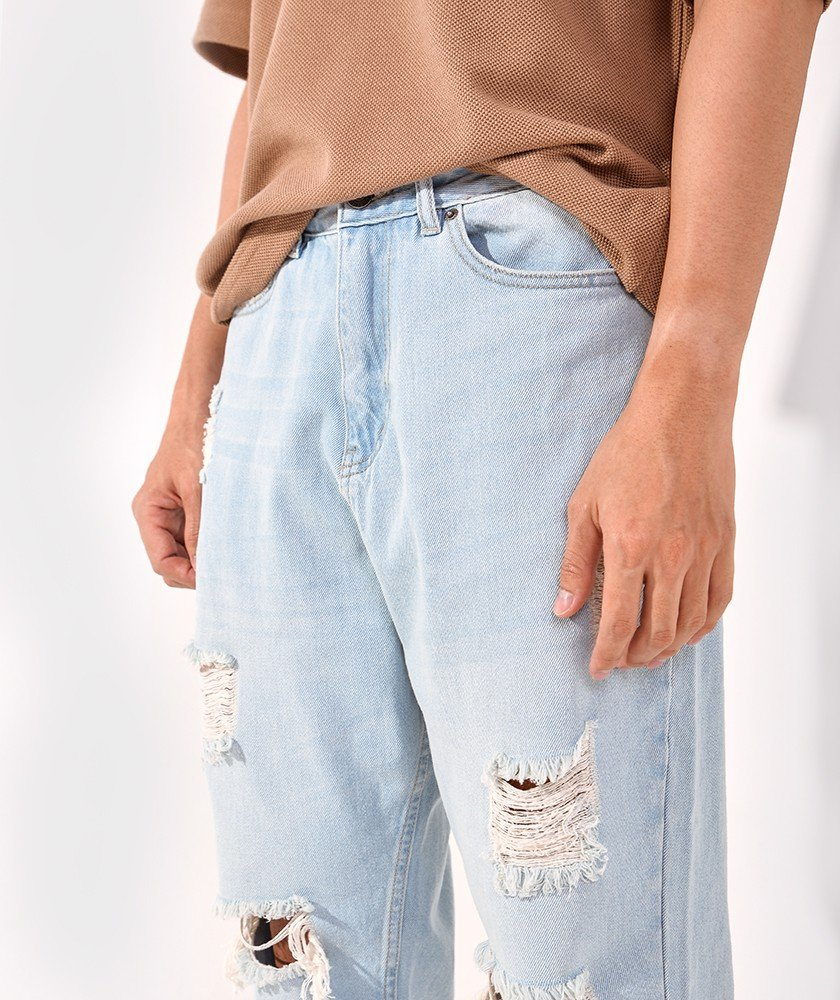 Quần Jeans Nam form loose fit- QJ228001-2