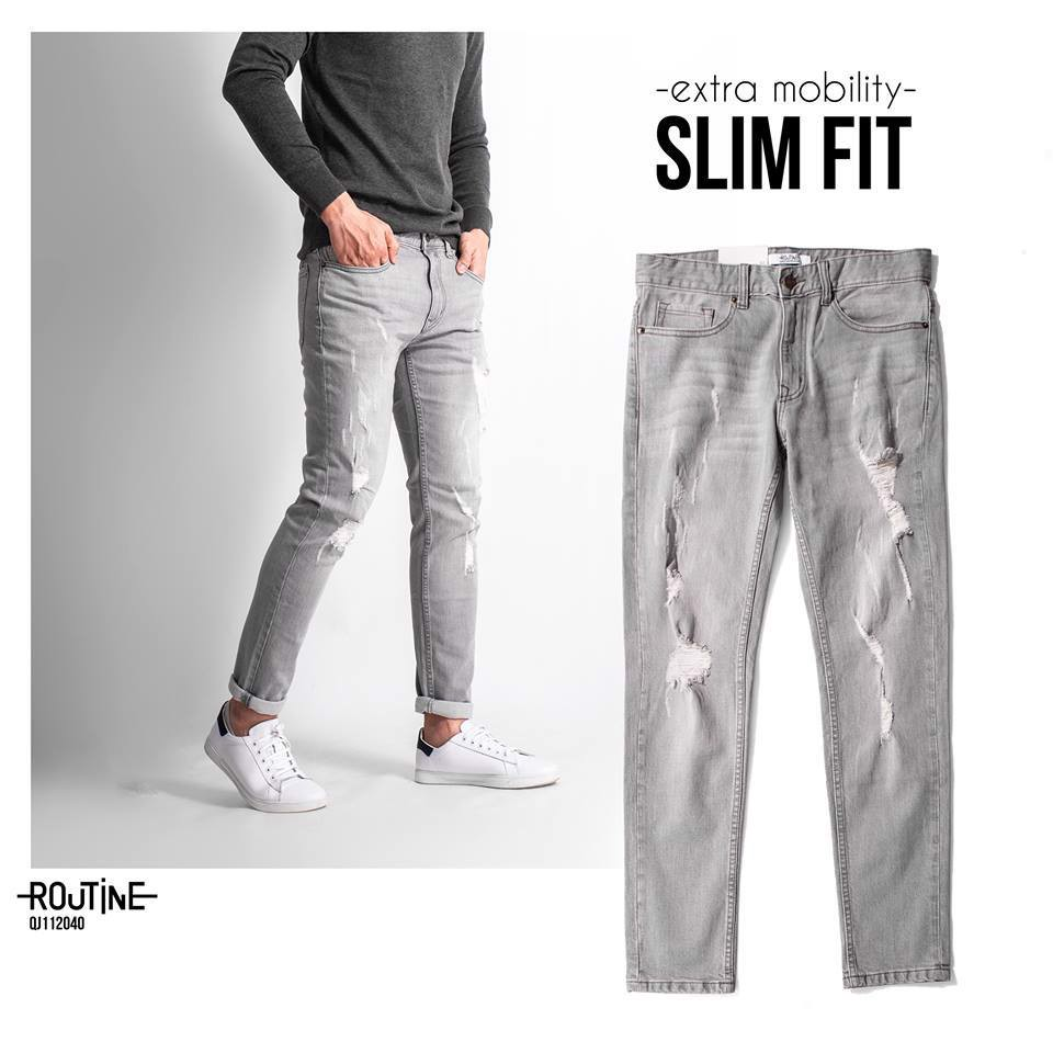 Quần Jean Nam co giãn form slim - QJ112040