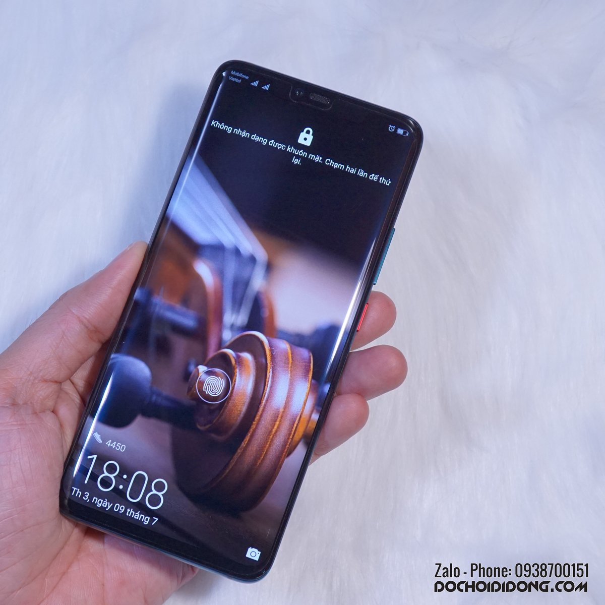 Miếng dán cường lực Huawei Mate 20 Pro Zacase trong suốt keo UV cao cấp