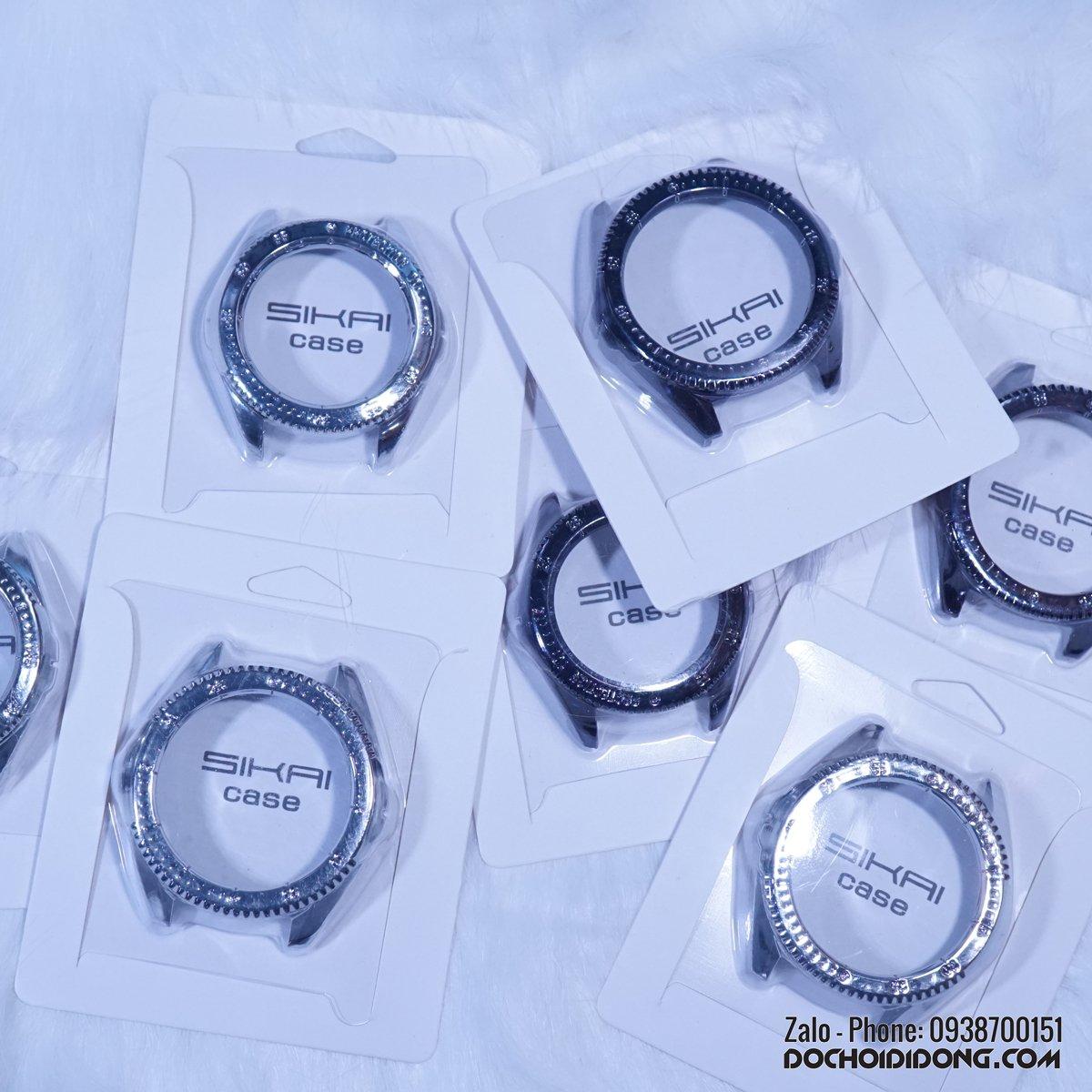 Ốp Bảo Vệ Đồng Hồ Samsung Galaxy Watch 42mm - 46mm Sikai Nhựa Cứng Sơn Mạ Kim Loại
