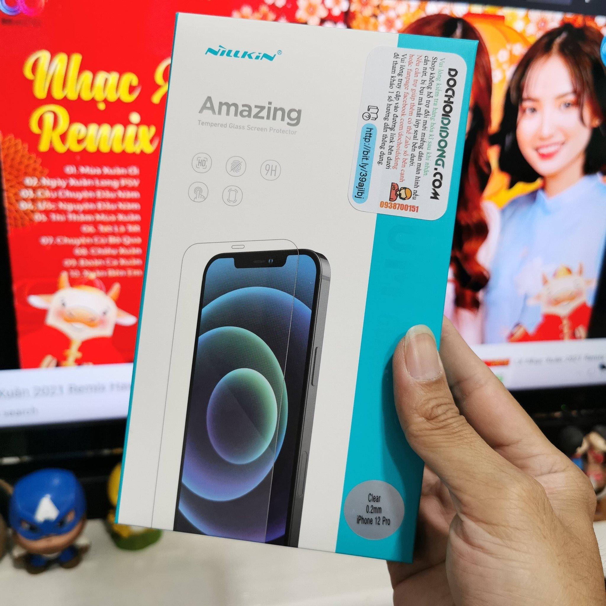 Miếng Dán Cường Lực IPhone 12 Các Loại Nillkin Amazing Premium Tempered Glass