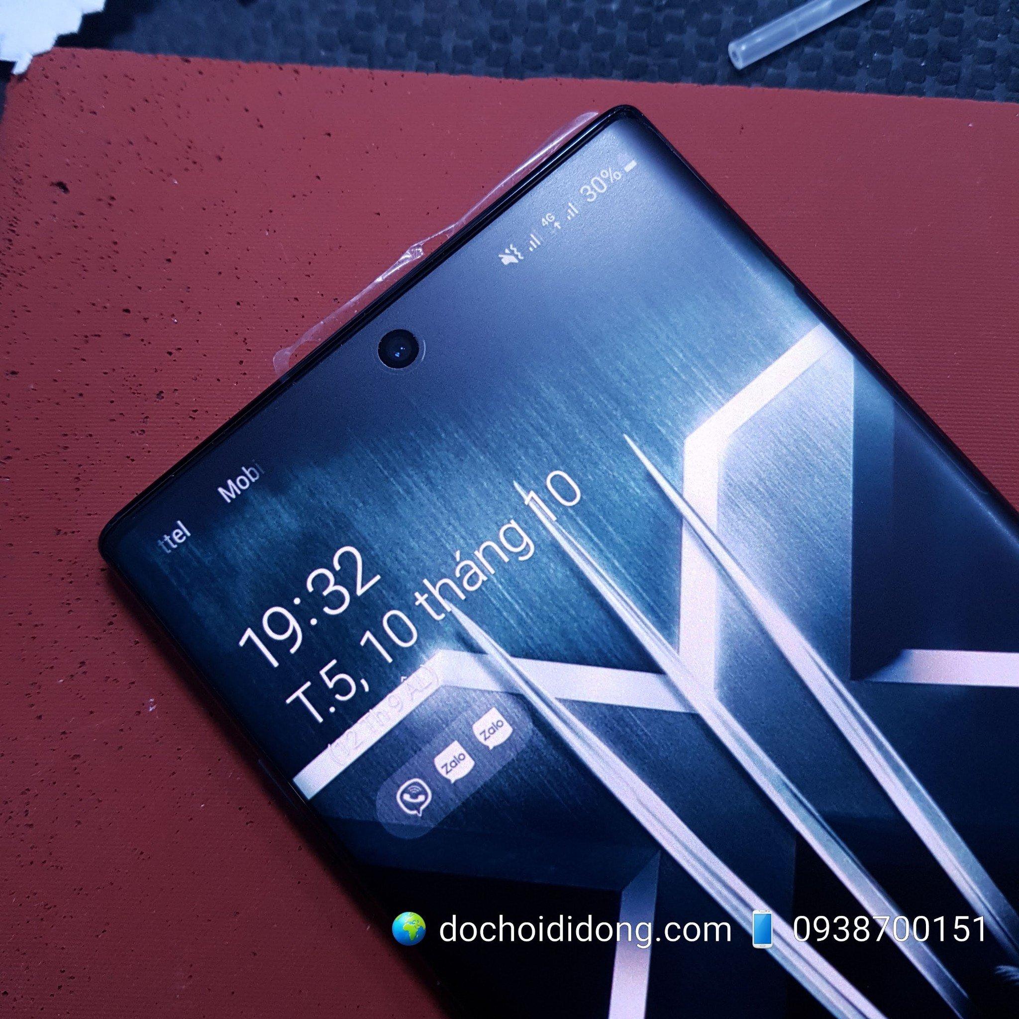 Miếng dán màn hình nhám Samsung Note 10 Plus Matte Flexible dẻo chống vân tay