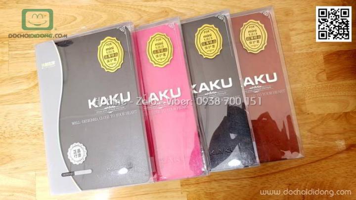 Bao da iPad Mini 1 2 3 Kaku da trơn