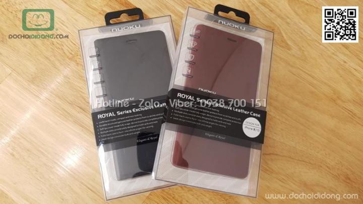 Bao da iPhone X Nuoku Royal Premium Case