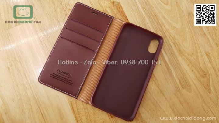 Bao da iPhone X XS Nuoku Royal Premium Case