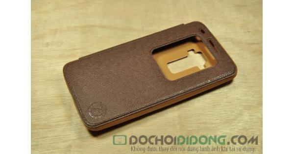 Bao da LG G-Flex F340 vân sần dạng flip cover