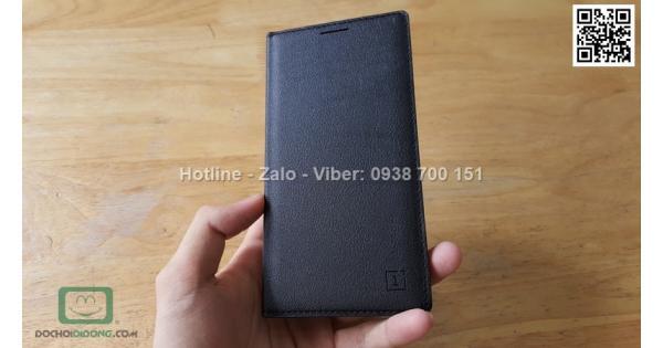 Bao da Oneplus 3 vân sần dạng flip cover
