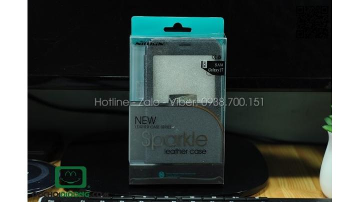 Bao da Samsung Galaxy J7 Nillkin Sparkle