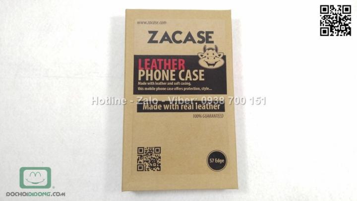 Bao da Samsung Galaxy S7 Edge Zacase da thật cao cấp
