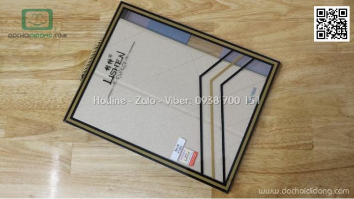Bao da Samsung Galaxy Tab A6 10.1 Spen Lishen vân nhám lưng dẻo