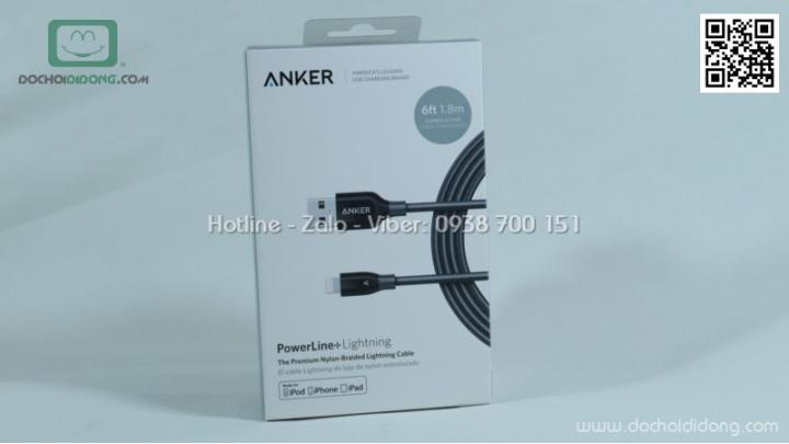 Cáp Lightning Anker Powerline+ 1.8m