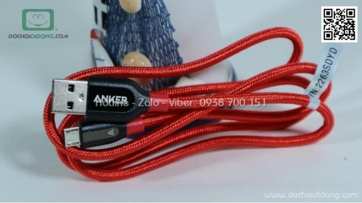 Cáp microUSB Anker PowerLine+ 0.9m A8142