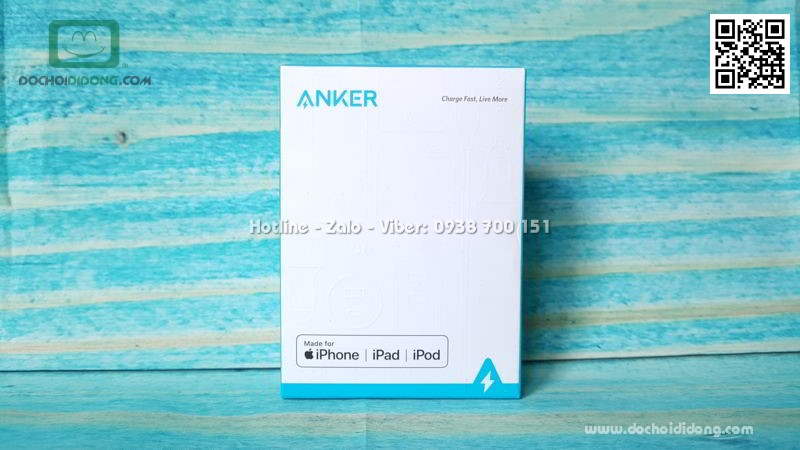 Cáp sạc Lightning Anker Powerline+ II A8452 0.9m