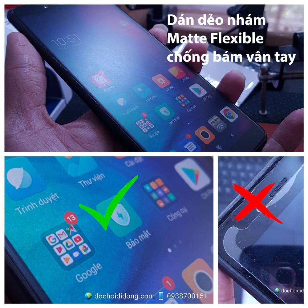 Miếng dán màn hình nhám Samsung Note 10 Matte Flexible dẻo chống vân tay