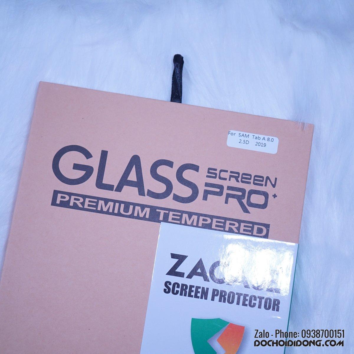 Miếng dán cường lực Samsung Galaxy Tab A 8.0 T295 2019 Zacase Tablet Premium