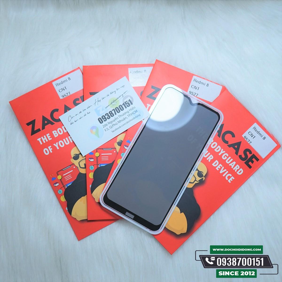 Dán cường lực chống nhìn trộm Xiaomi Redmi 8 Zacase cao cấp