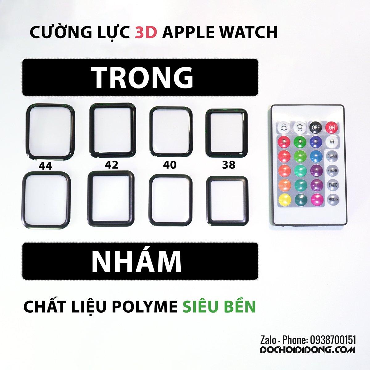 Dán cường lực đồng hồ Apple Watch Zacase 3D Polyme siêu bền