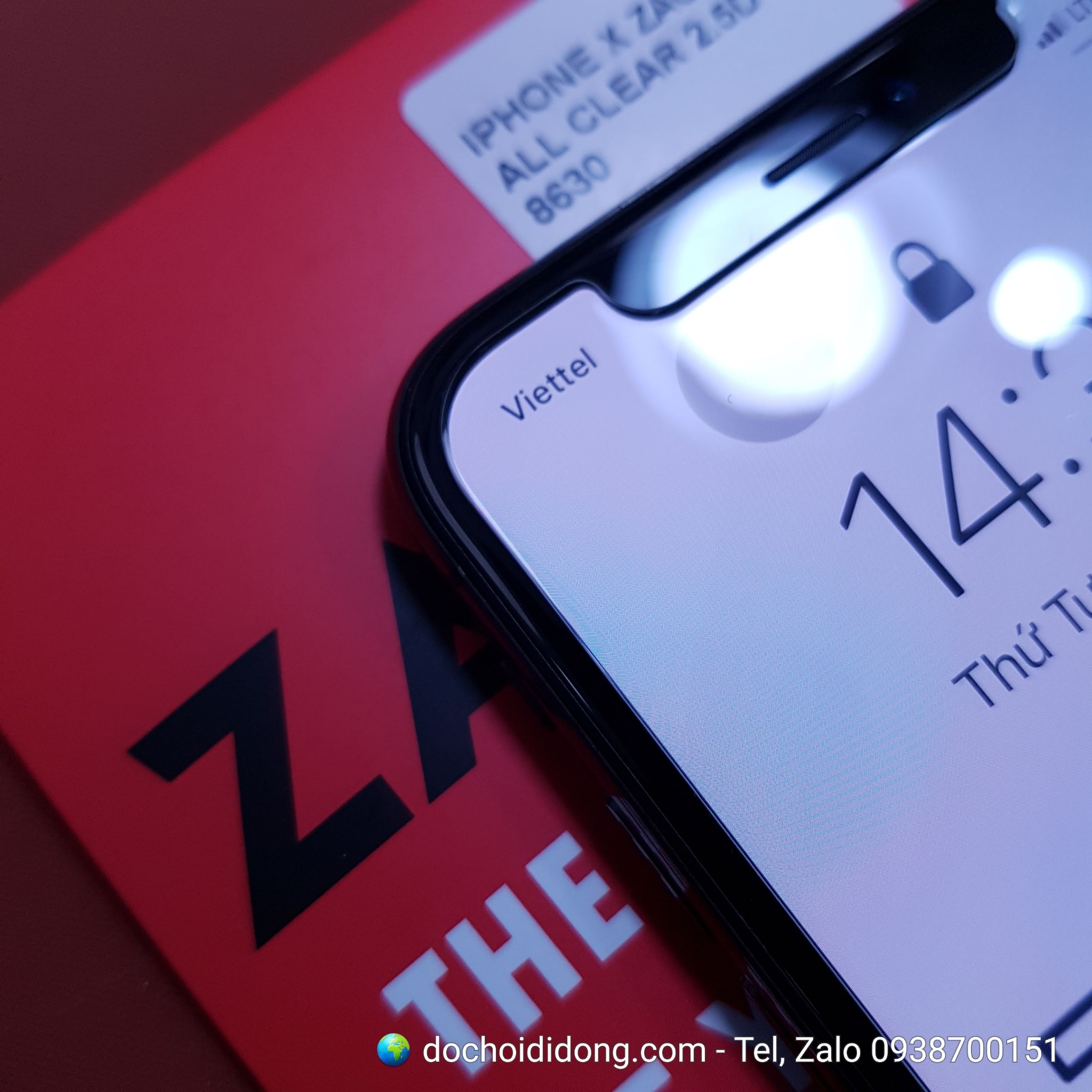 Dán cường lực iPhone X XS Zacase All Clear True 2.5D