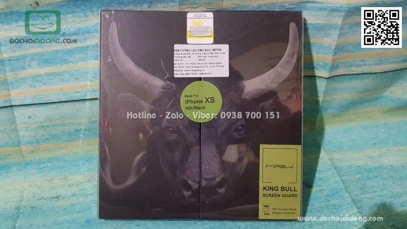 Dán cường lực iPhone X XS Mipow King Bull HD dùng cho ốp chống sốc