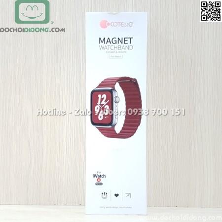 Dây đồng hồ Apple Watch 38mm 40mm Coteetci vân da nam châm